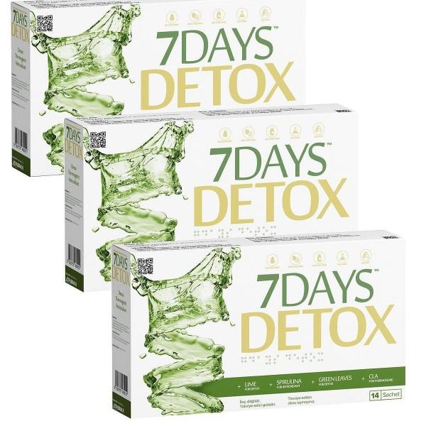 7 Days Detox × 3 Kutu Aynı Gün Ücretsiz Kargo