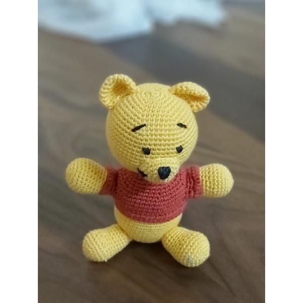 Amigurimi Ayı Winnie 10x10 cm Altı (Kargo Ücretsiz)