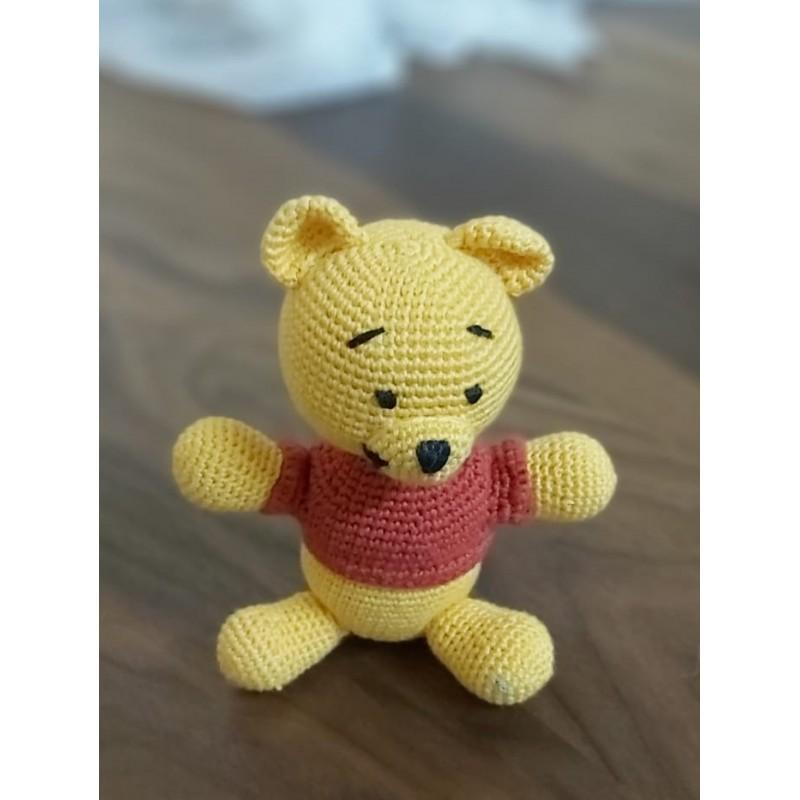 Amigurimi Ayı Winnie 20x20 cm Altı (Kargo Ücretsiz)
