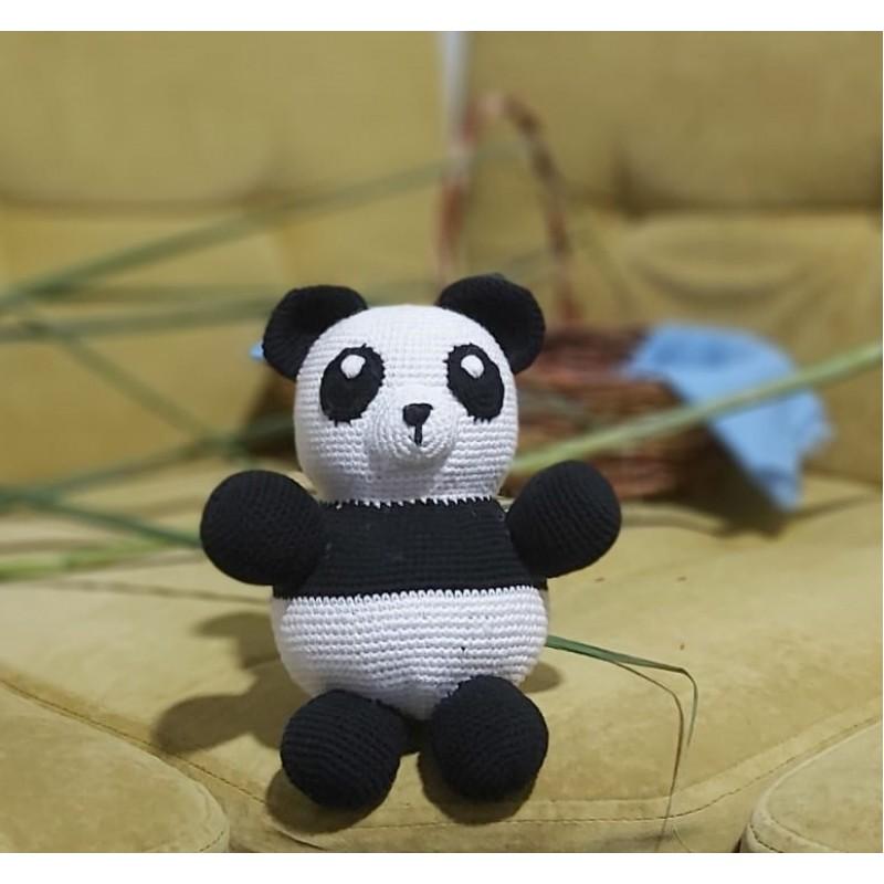 Amigurimi Panda 30cm Altı (Kargo Ücretsiz)