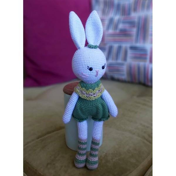 Amigurimi Süslü Tavşan 30cm (Kargo Ücretsiz)