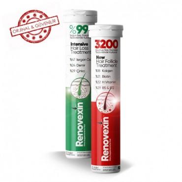 Renovexin 3200 New Formula Effervescent 1 Adet Tablet + Renovexin %99 New Formula Effervescent 1 Adet Tablet