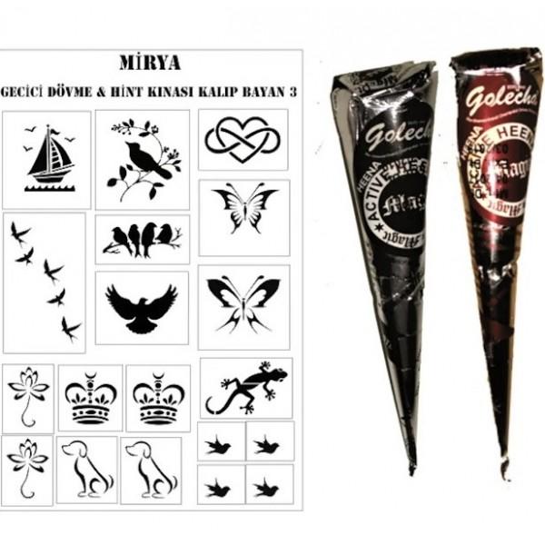 Golecha Magic Dövme Kınası 1 Adet Siyah 25 gr x 1 Adet Kahverengi 25 gr