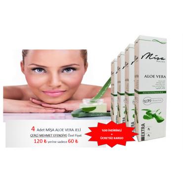 Mişa Aloe Vera B ve E Vitaminli Jel 200 ml 4 lü