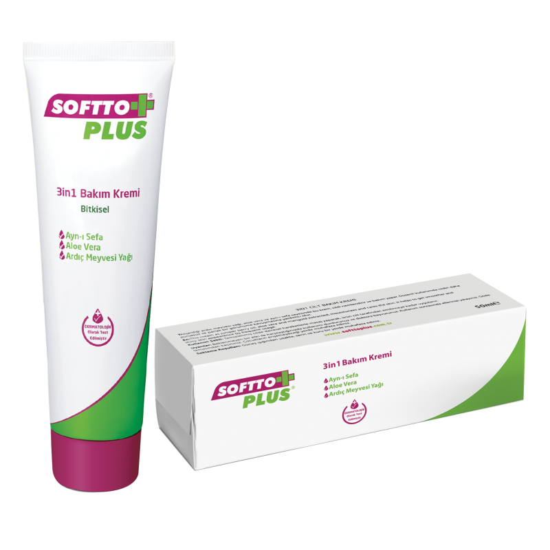 Softto Plus 3 in 1 Egz Vücut Bakım Kremi 50 ml