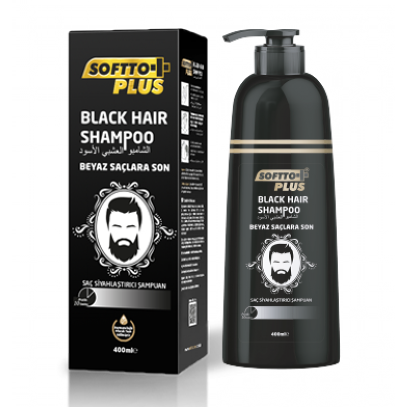 SOFTTO PLUS BLACK HAİR SHAMPOO 350ml YENİ ÜRÜN
